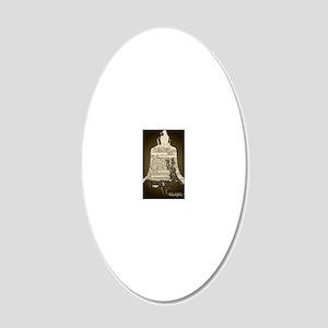 Philadelphia Liberty Bell 20x12 Oval Wall Decal