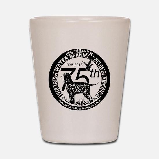 IWSCA 75th Anniversary logo in Black &  Shot Glass
