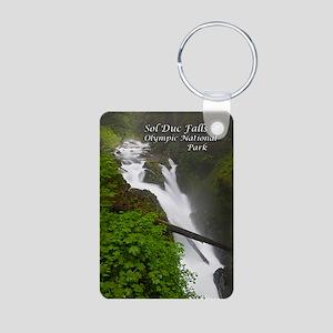 Sol Duc Falls Aluminum Photo Keychain