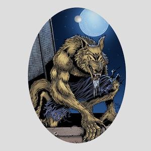 Werewolf Oval Ornament
