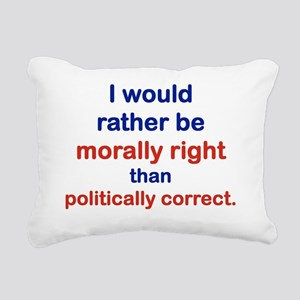 I WOULD RATHER BE MORALL Rectangular Canvas Pillow