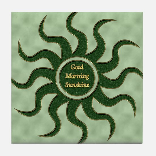 sun green gm Tile Coaster