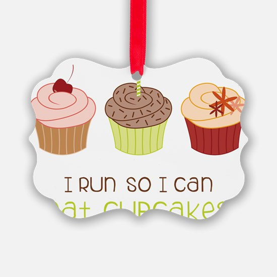Eat Cupcakes Ornament