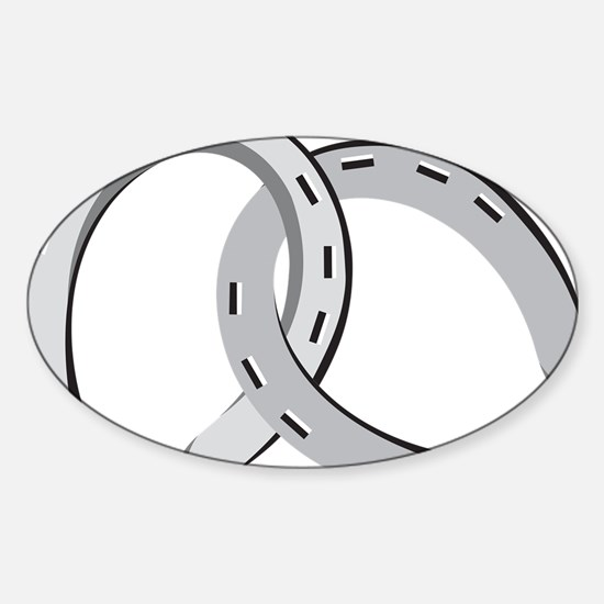 Horseshoes Sticker (Oval)