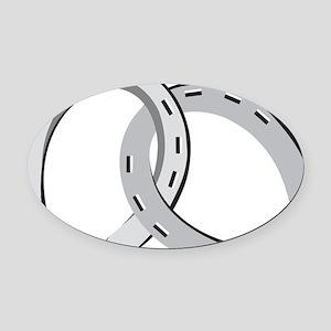 Horseshoes Oval Car Magnet