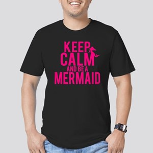 BE A MERMAID Men's Fitted T-Shirt (dark)
