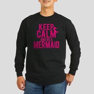 BE A MERMAID Long Sleeve Dark T-Shirt