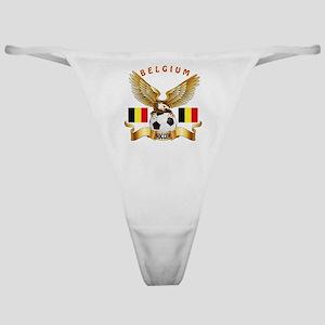 Belgium Football Design Classic Thong