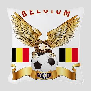 Belgium Football Design Woven Throw Pillow