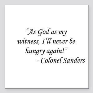 """Gone With The Wind - Col Square Car Magnet 3"""" x 3"""""""