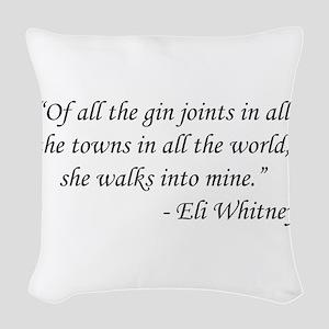 Casablanca - Eli Whitney Woven Throw Pillow