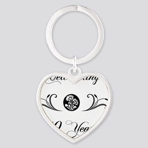 40th Wedding Anniversary Gifts Heart Keychain