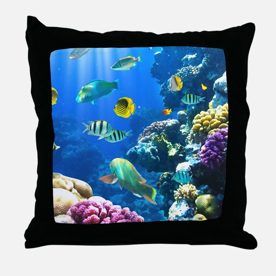 Ocean Life Throw Pillow