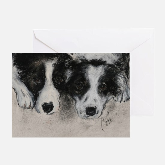 Border Collie Dog Art Greeting Card