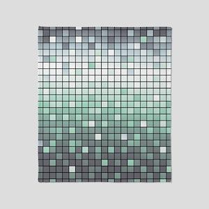 Silver Mosaic Throw Blanket
