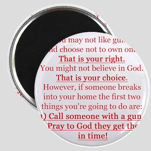 Pro Gun Quote Magnet