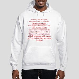 Pro Gun Quote Hooded Sweatshirt