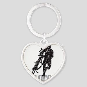 Cyclocross Heart Keychain