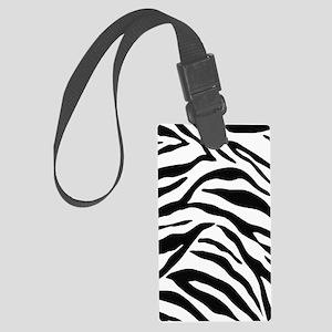 Zebra Stripes Large Luggage Tag