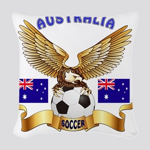 Australia Football Design Woven Throw Pillow