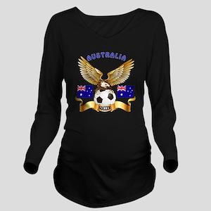 Australia Football D Long Sleeve Maternity T-Shirt