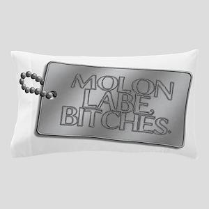 Molon Labe, bitches dog tag Pillow Case