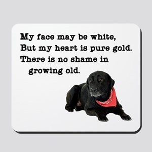 Old Black Lab Mousepad