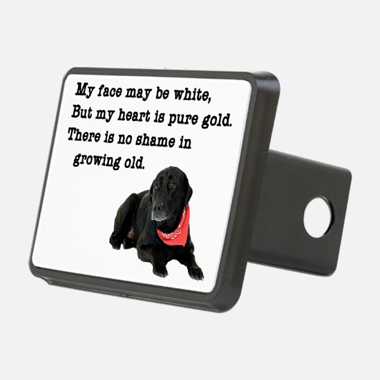 Old Black Lab Hitch Cover