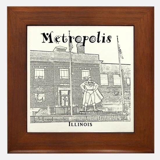 Metropolis_10x10_Superman_Black Framed Tile