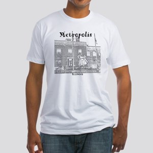 Metropolis_10x10_Superman_Black Fitted T-Shirt