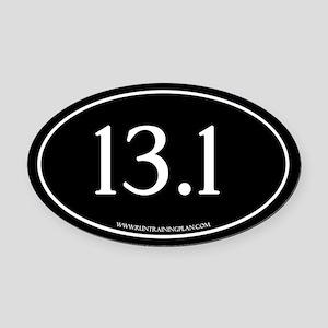 Half Marathon 13.1 Running Achieve Oval Car Magnet