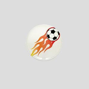 Soccer Fire Ball Mini Button