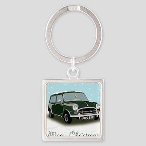 Classic mini traveller car Square Keychain