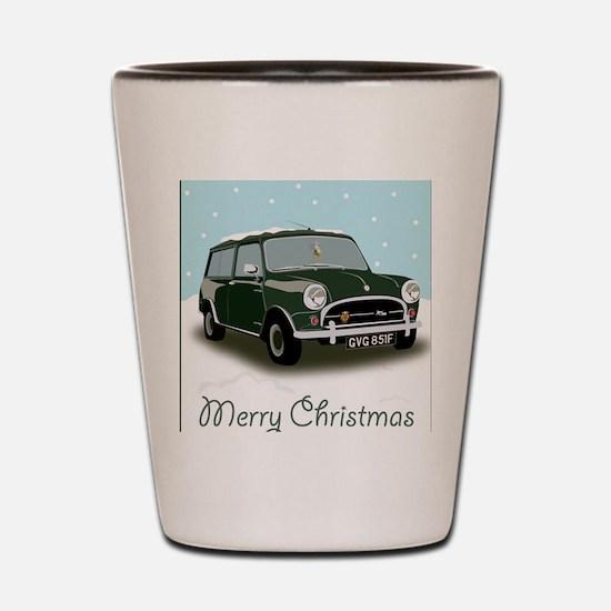Classic mini traveller car Shot Glass