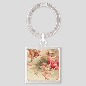 Cupid Angel 3 Square Keychain