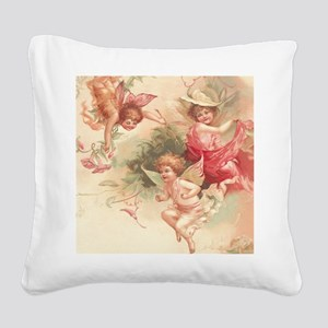 Cupid Angel 3 Square Canvas Pillow