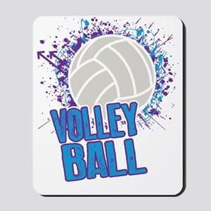 Volleyball Splatter Mousepad