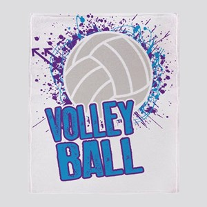 Volleyball Splatter Throw Blanket