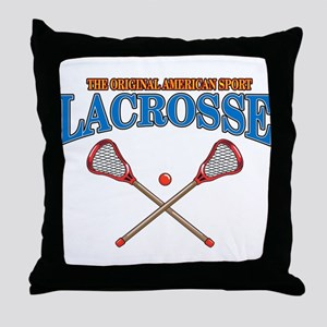 Lacrosse Original Americas Sport Throw Pillow