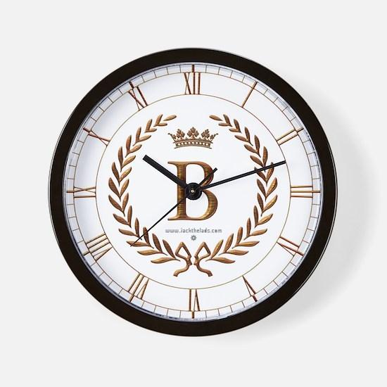 Napoleon initial letter B monogram Wall Clock