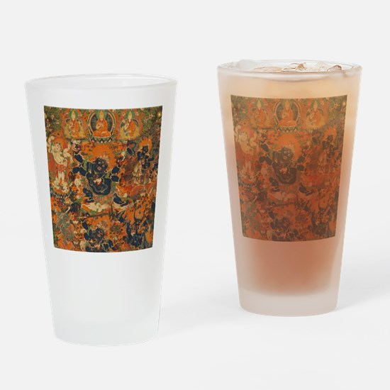 Mahakala Thangka Drinking Glass