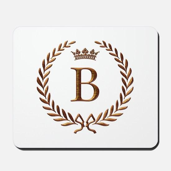 Napoleon initial letter B monogram Mousepad