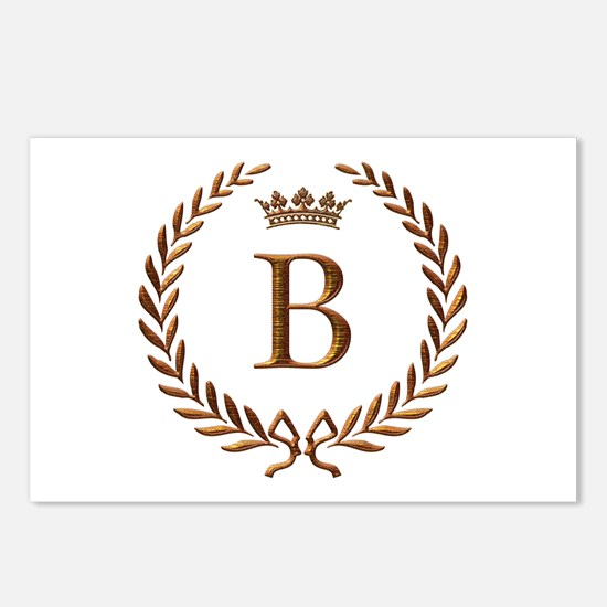 Napoleon initial letter B monogram Postcards (Pack