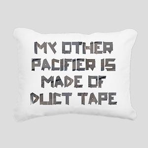 Duct Tape Pacifier Rectangular Canvas Pillow