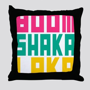BOOMSHAKALAKA Throw Pillow