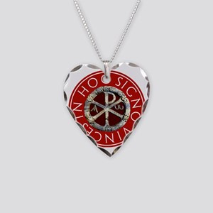 Chi-Rho Necklace Heart Charm