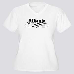 Albania Gothic Women's Plus Size V-Neck T-Shirt