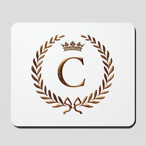 Napoleon initial letter C monogram Mousepad