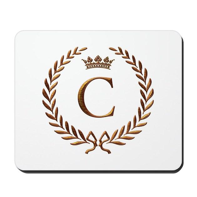 Napoleon initial letter C monogram Mousepad by jackthelads