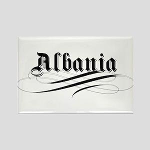 Albania Gothic Rectangle Magnet